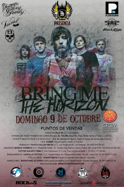 Bring Me The Horizon en Venezuela