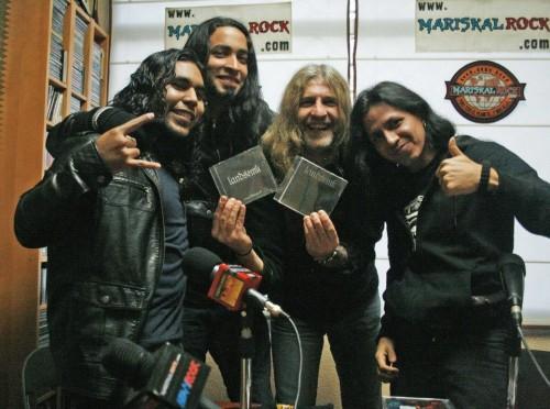 Landsemk siendo entrevistados en Mariskal Rock