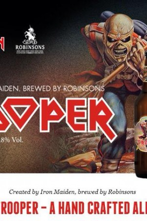Horns Up Rocks Iron Maiden Trooper Beer copy