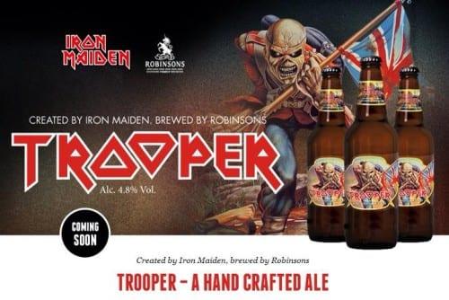 Horns Up Rocks Iron Maiden Trooper Beer copy