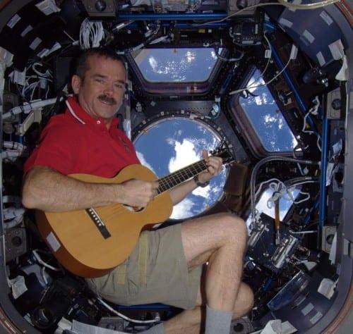 Chris Hadfield - Astronauta - Cover Bowie