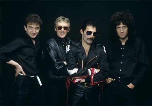 Queen group studio 1982
