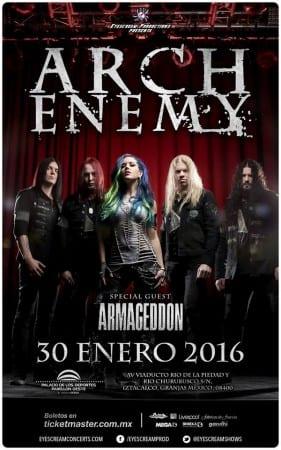 """ARCH ENEMY continúa promocionando """"War Eternal"""" y llegará a México a finales de Enero @EyeScreamShows"""