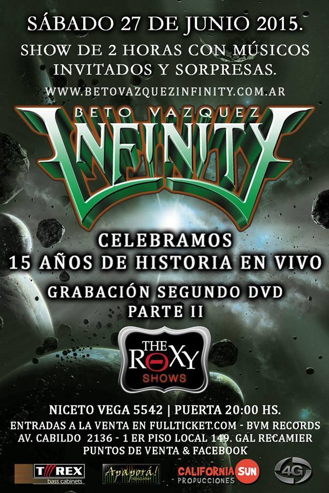 BETO VAZQUEZ INFINITY en The Roxy Live, Buenos Aires