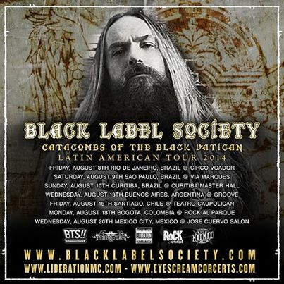 Black Label Society latinamerica2014