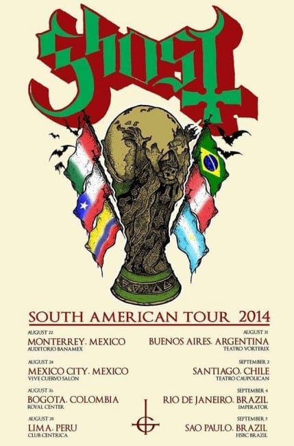Ghost-South-American-tour-2014