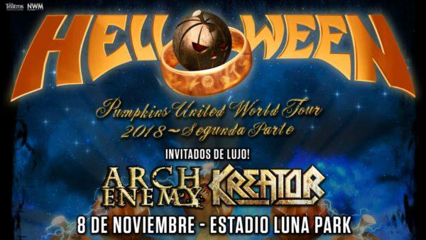 HELLOWEEN, ARCH ENEMY y KREATOR en Argentina @ Luna Park | Buenos Aires | Argentina