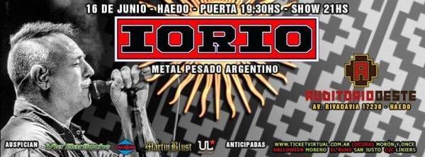 IORIO tocará en Auditorio Oeste @ Auditorio Oeste | Haedo | Buenos Aires | Argentina