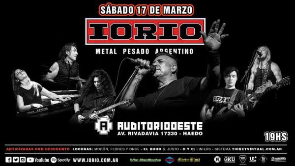 IORIO en Haedo, Buenos Aires @ Auditorio Oeste | Ramos Mejía | Buenos Aires | Argentina