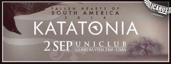 KATATONIA vuelve a la Argentina en Septiembre para marchitar corazones @ Uniclub | Buenos Aires | Ciudad Autónoma de Buenos Aires | Argentina