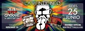 """LA 25 presenta el segundo de los """"Especiales 25"""" en Groove, Buenos Aires"""