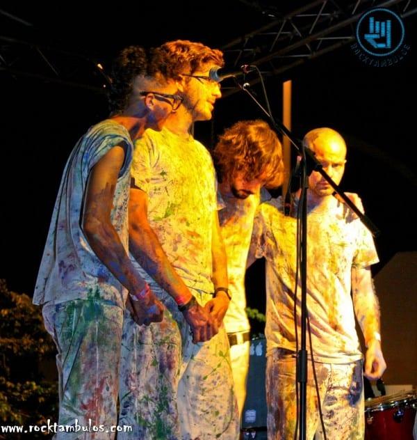 La Vida Boheme en uno de sus shows en Caracas en 2010