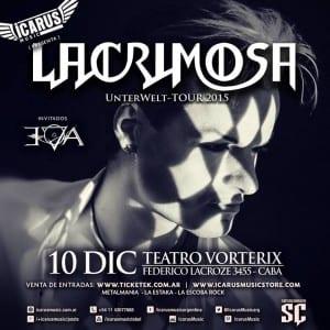 """LACRIMOSA vuelve a la Argentina este 10 de Diciembre para presentar su """"Unterwelt Tour"""" @IcarusMusicArg"""