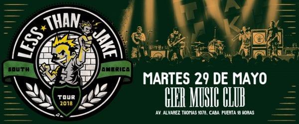 LESS THAN JAKE en Buenos Aires, Argentina @ Gier Music Club | Buenos Aires | Argentina