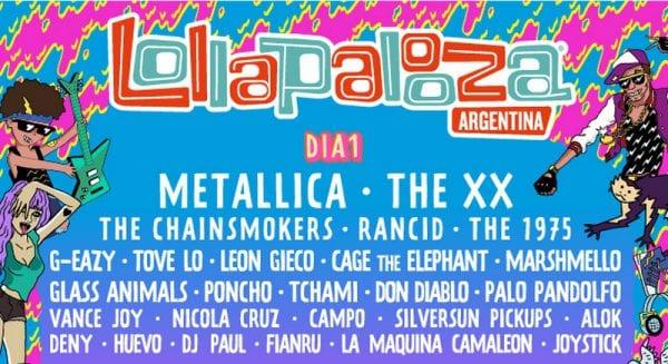 Lollapalooza Argentina 2017 - METALLICA @ Hipódromo de San Isidro | San Isidro | Buenos Aires | Argentina