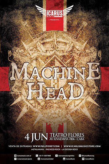 MACHINE HEAD EN ARGENTINA – AN EVENING WITH MACHINE HEAD TOUR 2015