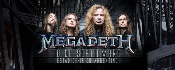 MEGADETH en Buenos Aires @ Estadio Hípico