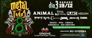 Este 19/12 el METAL PARA TODOS cierra el año en Bs As con las mejores bandas de metal argentino