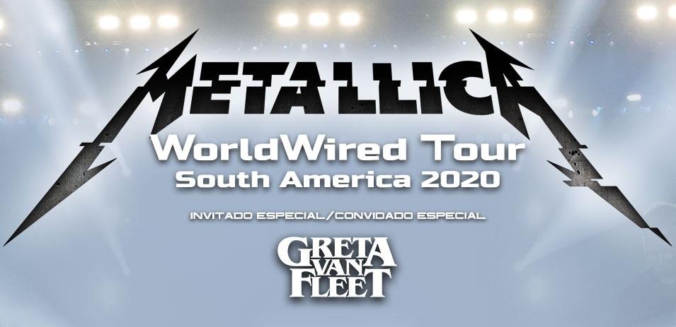 METALLICA visitará Sudamérica en 2020 y GRETA VAN FLEET será su invitado