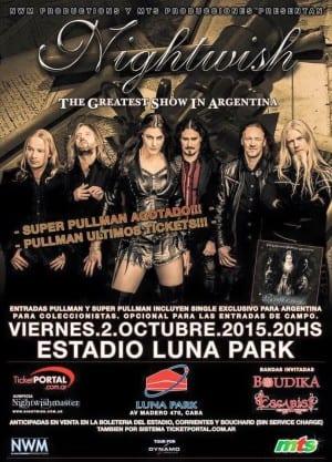 NIGHTWISH llegará al Luna Park de Buenos Aires el próximo 2 de Octubre @GSPress1