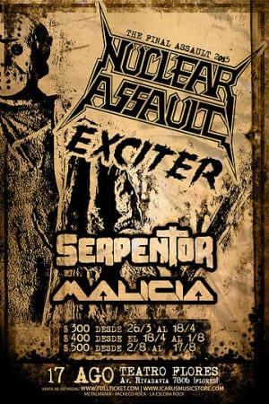NUCLEAR ASSAULT y EXCITER en Buenos Aires, Argentina