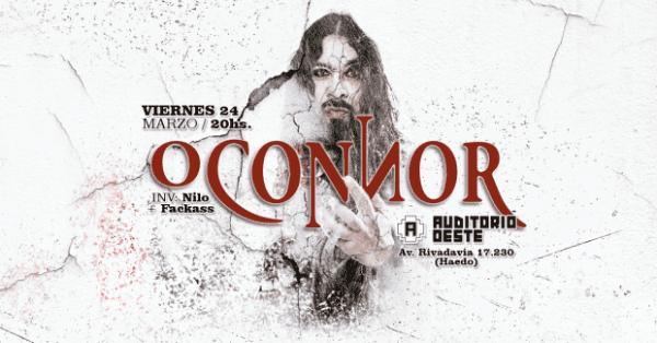 O'CONNOR Se Presentará en Auditorio Oeste de Haedo, Buenos Aires @ Auditorio Oeste | Haedo | Buenos Aires | Argentina