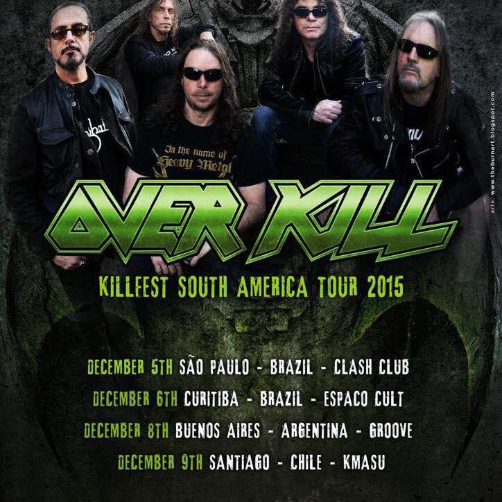 Overkill Southamerica 2015