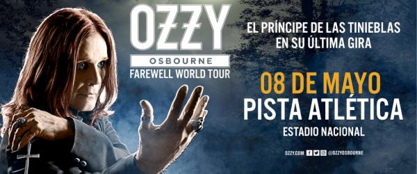 OZZY OSBOURNE en Chile @ Pista Atlética Estadio Nacional | Ñuñoa | Región Metropolitana | Chile
