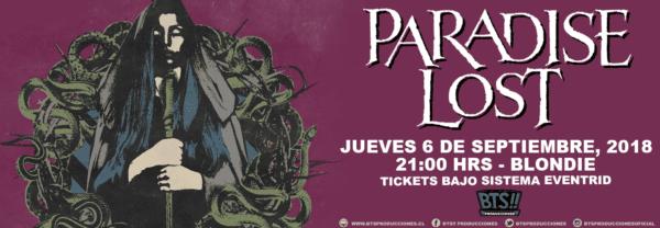 PARADISE LOST en Chile @ Club Blondie | Santiago | Región Metropolitana | Chile