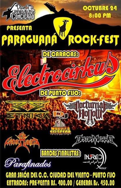 Paraguana rock Fest Afiche