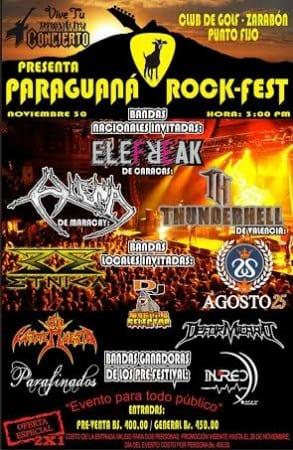 Paraguana rock Fest Afiche New