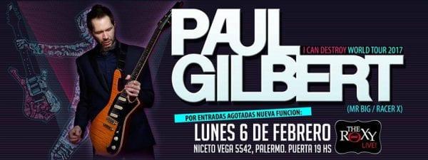 PAUL GILBERT en Buenos Aires. Segunda Fecha @ The Roxy Live | Ciudad Autónoma de Buenos Aires | Argentina