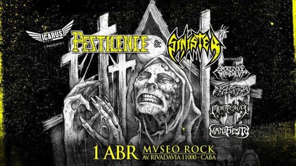 PESTILENCE y SINISTER en Mvseo Rock, Buenos Aires @ Mvseo Rock | Buenos Aires | Argentina