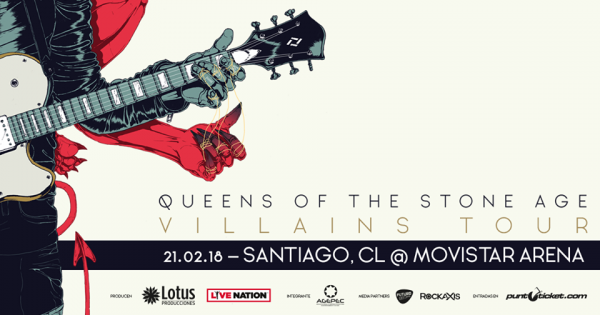 QUEENS OF THE STONE AGE en Chile @ Movistar Arena | Santiago | Región Metropolitana | Chile