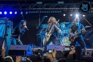 Anthrax junto a Andreas Kisser de Sepultura, Escenario Plaza