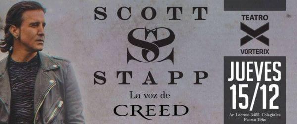 SCOTT STAPP (Ex CREED) se presentará en Argentina @ Teatro Vorterix   Buenos Aires   Ciudad Autónoma de Buenos Aires   Argentina
