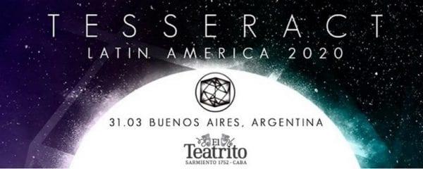 TESSERACT en Buenos Aires 2020 - CANCELADO @ El Teatrito