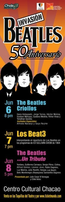 THE BEATLES X3 CARACAS