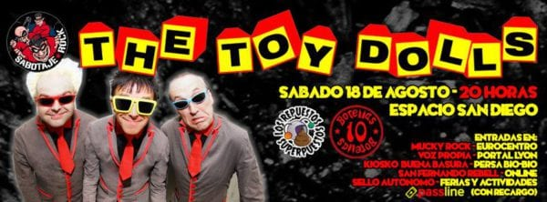 THE TOY DOLLS en Chile @ Espacio San Diego | Santiago | Región Metropolitana | Chile