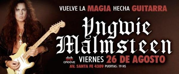 YNGWIE MALMSTEEN llegará a Buenos Aires con toda su magia en Agosto @ Groove | Buenos Aires | Ciudad Autónoma de Buenos Aires | Argentina