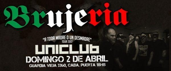 BRUJERÍA Regresará a Argentina Para Tocar en Uniclub @ Uniclub | Ciudad Autónoma de Buenos Aires | Argentina