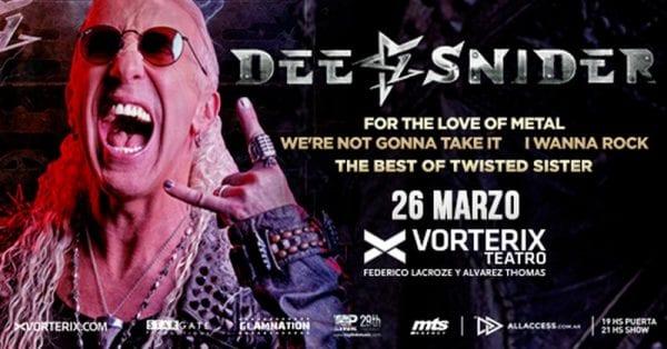 DEE SNIDER (TWISTED SISTER) en Argentina @ Teatro Vorterix