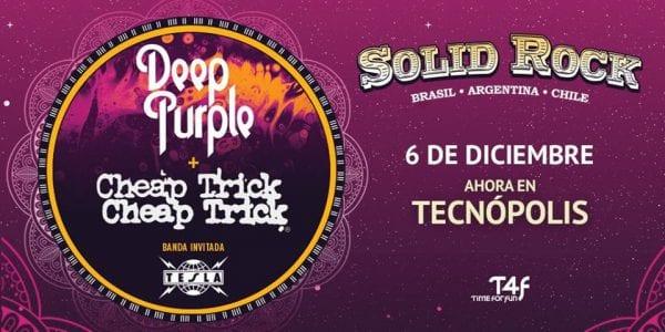 Solid Rock: DEEP PURPLE, CHEAP TRICK y TESLA en Buenos Aires @ Tecnópolis | Villa Martelli | Buenos Aires | Argentina
