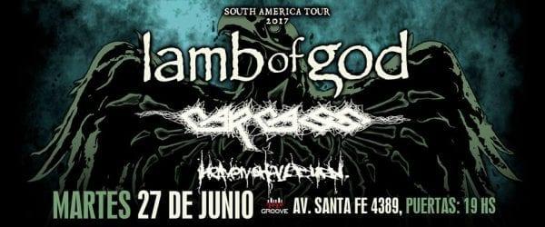 LAMB OF GOD, CARCASS y HEAVEN SHALL BURN en Buenos Aires. @ Groove. | Ciudad Autónoma de Buenos Aires | Argentina