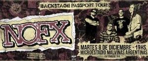 Todo el punk de NOFX retumbará el próximo 8 de Diciembre en Buenos Aires, Argentina @rockyreggae