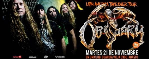 OBITUARY en Uniclub, Buenos Aires @ Uniclub. | Buenos Aires | Argentina