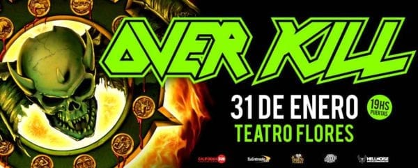 OVERKILL en Buenos Aires @ Teatro  Flores | Buenos Aires | Argentina