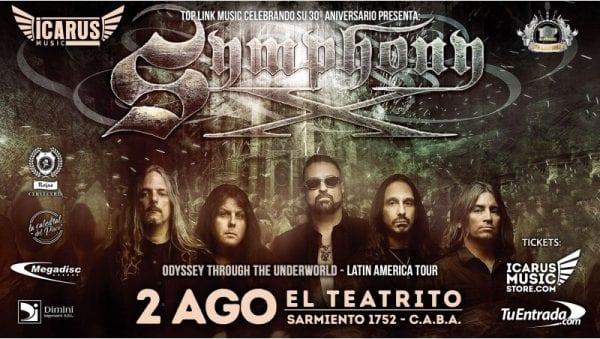 SYMPHONY X en Buenos Aires @ El Teatrito