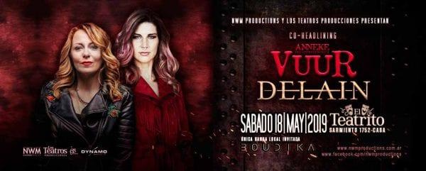 VUUR y DELAIN en Buenos Aires @ El Teatrito